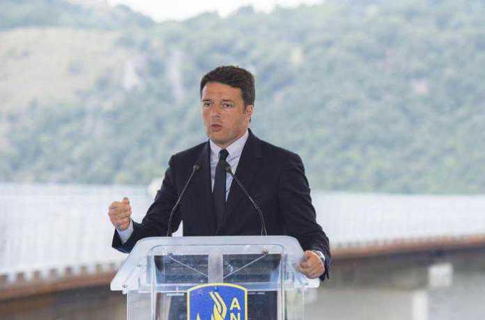 Matteo Renzi inaugura viadotto Italia