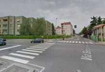 L'incrocio tra via Togni e Romanello a Milano dove è avvenuto l'incidente