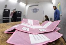Un momento del voto per il Referendum Costituzionale