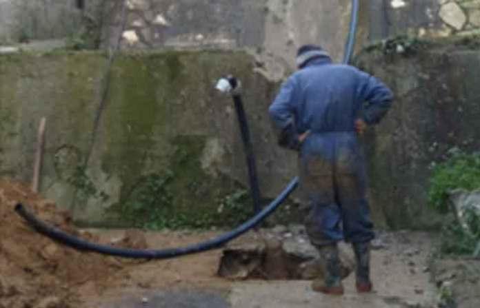rottura rete idrica cosenza