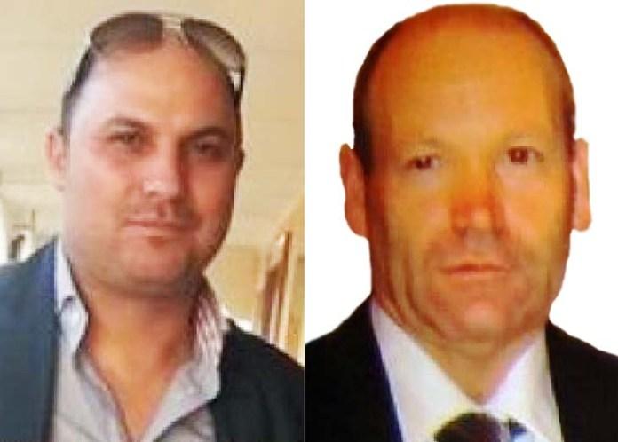 Da sinistra Giuseppe Zangari e la vittima, Bruno Lacaria