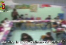 Frame del video della Squadra mobile di Reggio Calabria