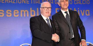 Carlo Tavecchio Andrea Abodi candidati alla presidenza della Figc