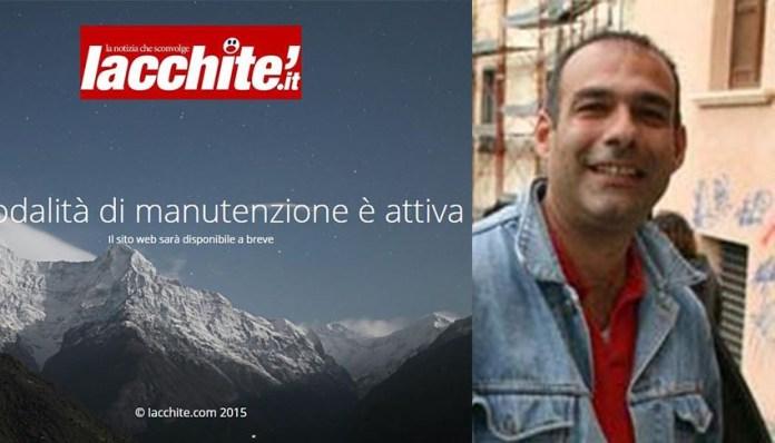 La home page di Iacchitè come si presenta ai visitatori. A destra Gabriele Carchidi