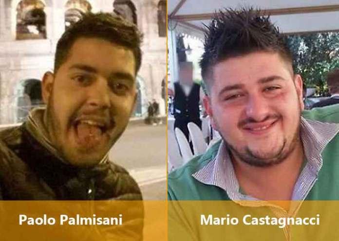 Da sinistra Paolo Palmisani e Mario Castagnacci i due fratellastri fermati per l'omicidio di Emanuele Morganti