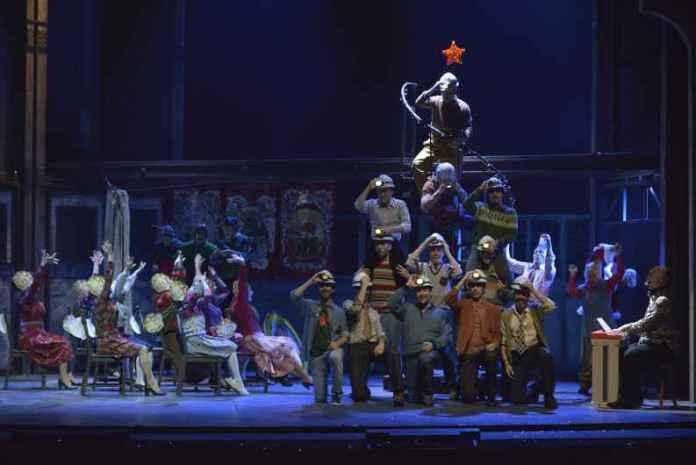 Una scena di Billy Elliot al Rendano