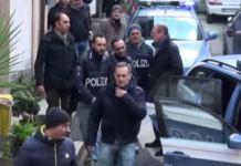 Un momento dell'arresto del latitante Marcello Pesce a dicembre 2016