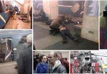 Una sequenza di immagini dell'attentato a San Pietroburgo