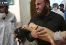 Un fotogramma di una tv siriana