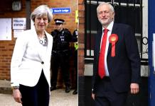 Theresa May e Jeremy Corby