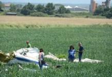velivolo ultraleggero precipitato