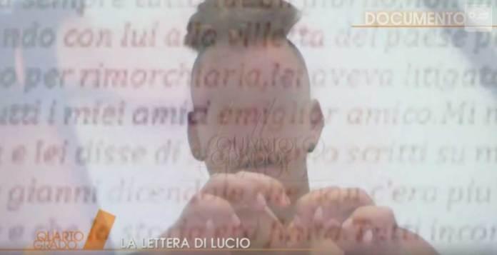 Lettera di Lucio Marzo a Noemi Durini