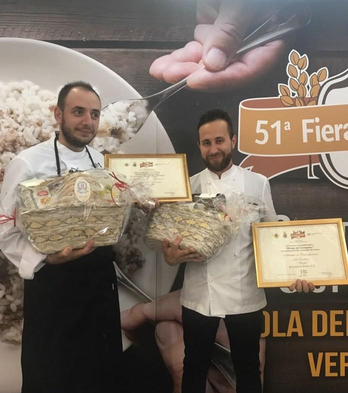Michele Rizzo e Valerio Laino (a destra) sul podio di Isola della Scala, a Verona