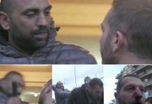 Una sequenza in cui Roberto Spada picchia il giornalista di Rai2 Daniele Piervincenzi