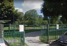 L'ingresso di Villa Litta, a Milano, dov'è stata uccisa Marilena Negri