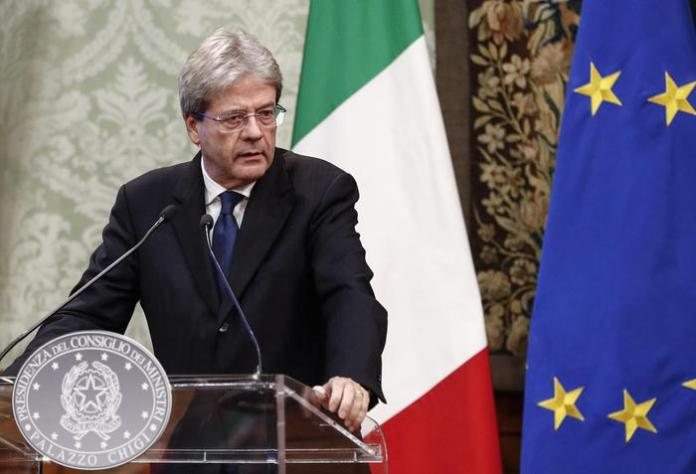 Il presidente del Consiglio Paolo Gentiloni