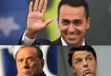 """Renzi e Berlusconi contro il M5S. Di Maio: """"Non hanno numeri e tremano"""""""