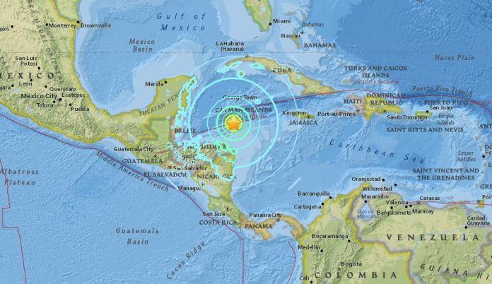 Terremoto honduras cuba caraibi