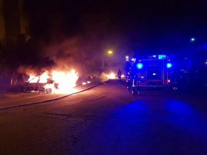 auto rumeni incendiate bisignano
