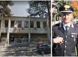A destra il tenente colonnello Vincenzo Perrone, neo comandante del gruppo carabinieri-forestali di Cosenza