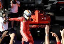 Sebastian Vettel dopo la vittoria