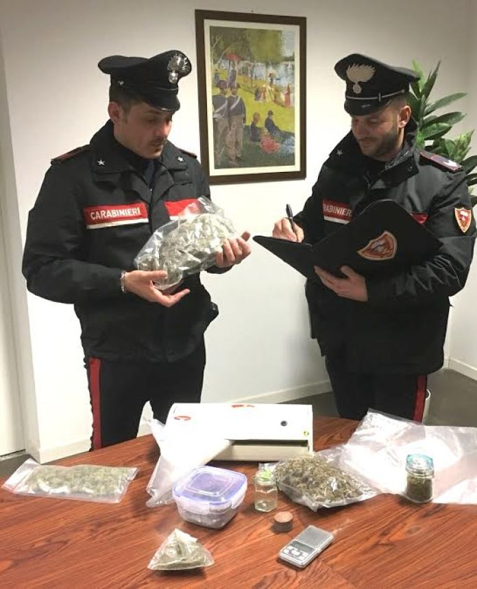 marijuana carabinieri rende