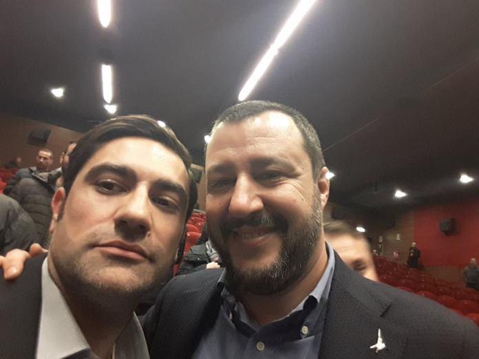 Domenico Furgiuele con Matteo Salvini
