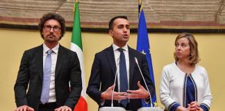 Luigi Di Maio al termine delle consultazioni con Fico