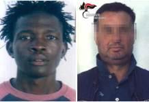 Da sinistra la vittima Soumayla Sacko e Antonio Pontoriero