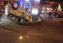 auto ribaltata incidente lamezia