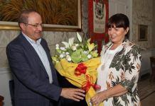 Il presidente della Provincia di Cosenza Franco Iacucci con il Questore Giovanna Petrocca