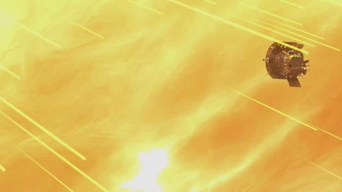 Rappresentazione della Parker Solar probe