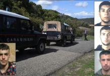 Manuel Careddu, a destra i tre maggiorenni arrestati
