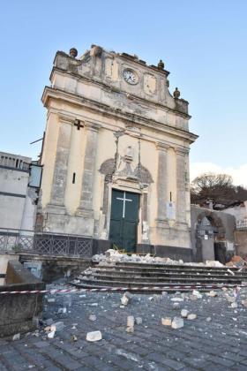 crolli terremoto Etna