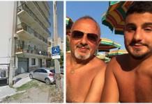 A sinistra la palazzina dov'è maturata la tragedia. A destra padre e figlio Domenico e Simone Bova