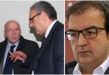 Da sinistra Mario Oliverio Nicola Adamo e a destra Mario Occhiuto