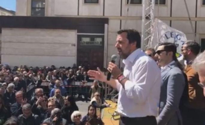 Salvini in Calabria comizio a Catanzaro
