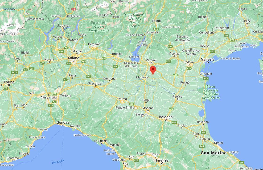 Terremoto di magnitudo 4.4 vicino Verona