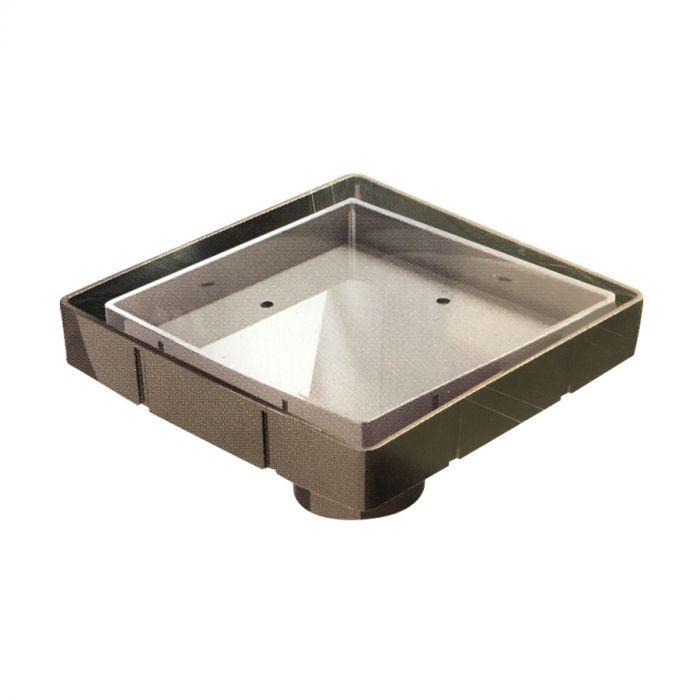 6 square tile shower drain