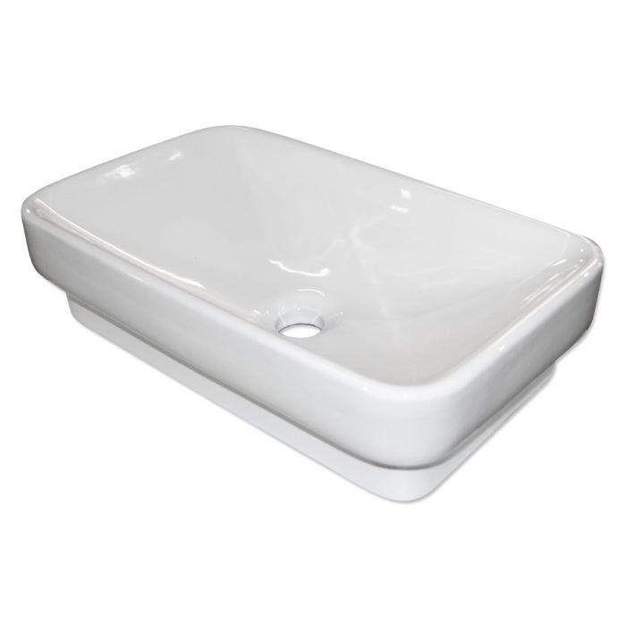 harper porcelain vessel sink vb402 white