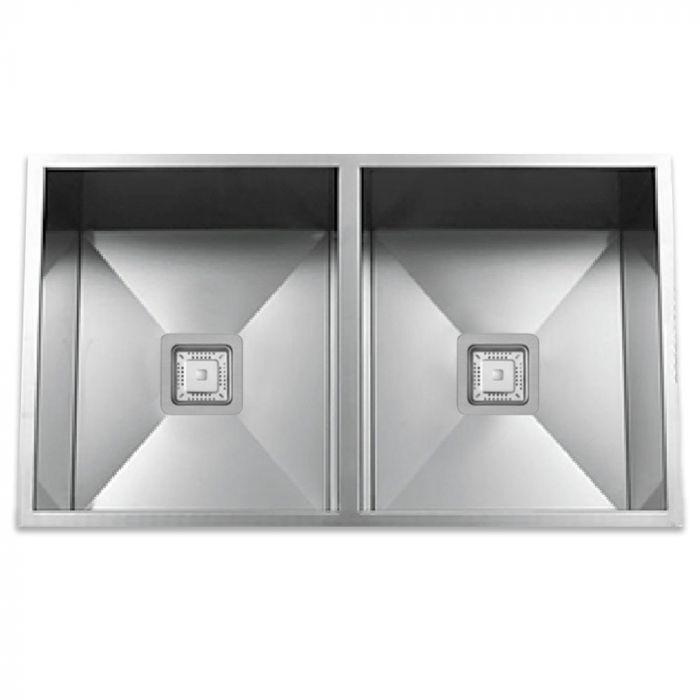 zs 9100 s zero radius 50 50 square drain stainless steel sink