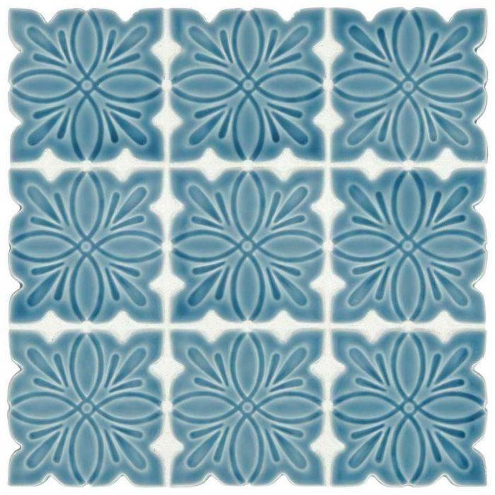 star blue 12 x 14 mosaic tile