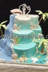 Beach-Ocean-Blue-Green-Wedding-Cake from Second Slices® bakery in Edmonton