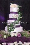 Purple-Olive-Wedding-Cake with purple ribbon from bakery Second Slices® in Edmonton AB