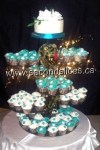 Wedding Cakes cupcakes teal color from Second Slices® bakery in Edmonton