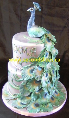 Magnificent Purple Peacock Birthday Cake Second Slices Cakery Inc Cakes N Birthday Cards Printable Giouspongecafe Filternl