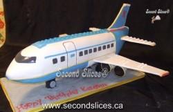 Lego Airplane Birthday Cake