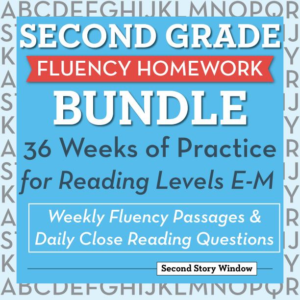 2nd Grade Fluency Homework - Second Story Window