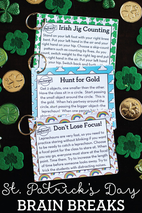 12 FREE St. Patrick's Day Brain Breaks