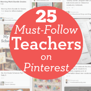 25 Must Follow Teachers on Pinterest